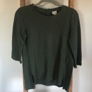 Tops - Textured olive colored top